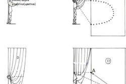 Варианты драпировки штор