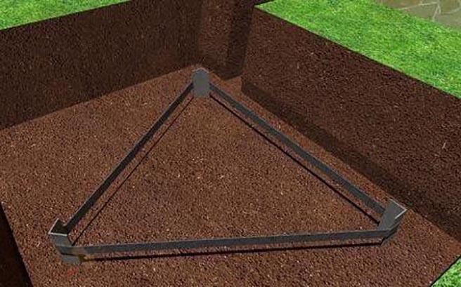 контур заземления треугольником