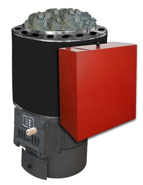 Печь с выносным баком на 60 л для горячей воды из нержавеющей стали