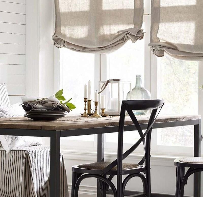 модные шторы из льна