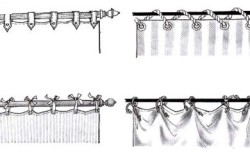 Варианты занавесок на лентах
