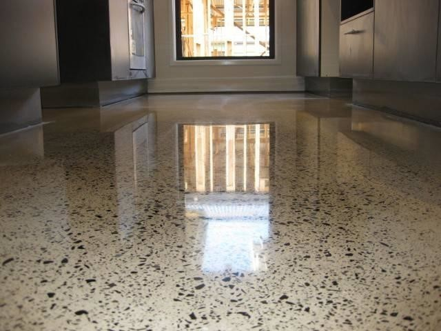 Пример полированного бетонного пола
