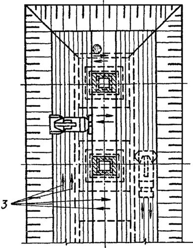 Схема работ по уплотнению грунтов обратной засыпки самоходным катком