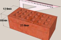 Размеры полуторного силикатного кирпича