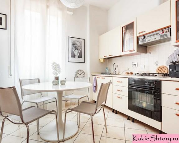 прозрачный тюль на кухне