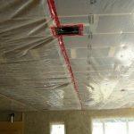 Теплоизоляция потолка изнутри