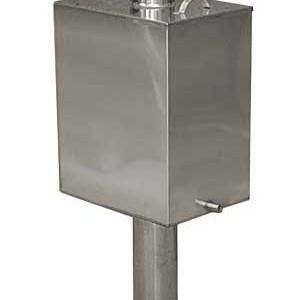 фото: защитный короб на трубе