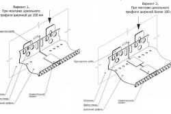 Схема монтажа цокольного профиля