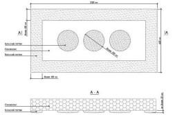 Схема нанесения клея на плиты пенопласта
