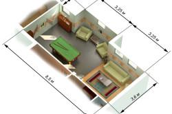 Пример замеров комнаты для монтажа подвесного потолка