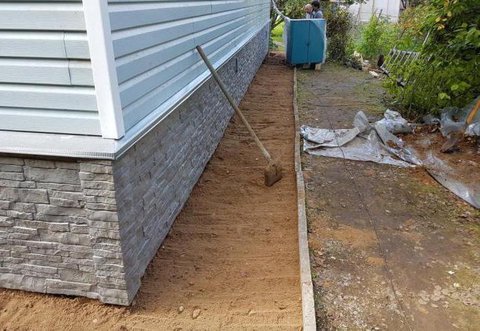 виды отмостки вокруг дома без бетона