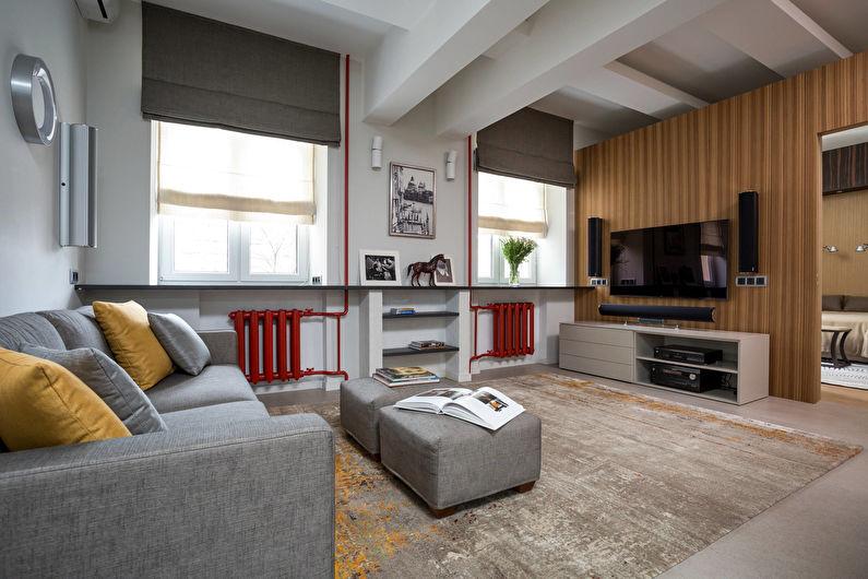 Римские шторы для маленькой гостиной (зала) - фото