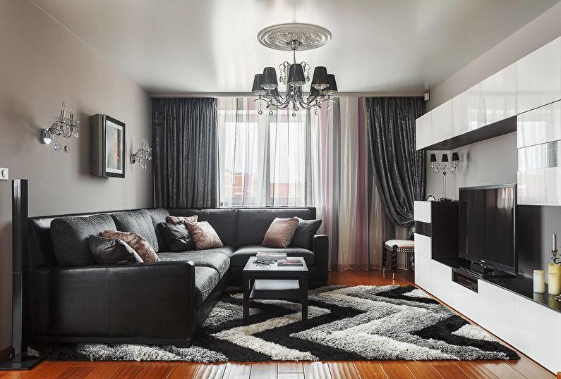 Шторы для гостиной (зала) - фото