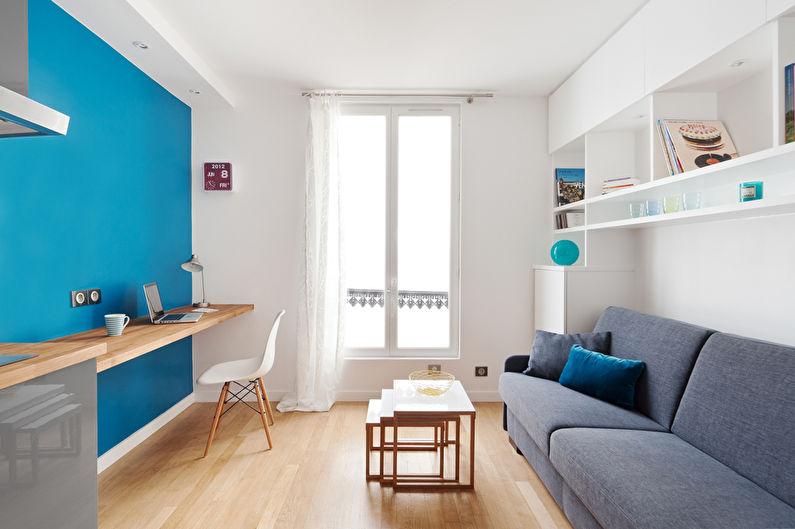 Белые шторы для гостиной (зала) в современном стиле - фото