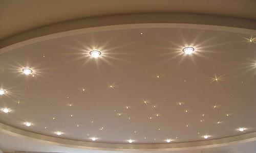 Правильный монтаж точечных светильников