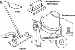 Инструменты для приготовления бетонной смеси