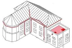 Схема установки нагревательных элементов крыши