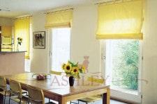 Римские желтые шторы