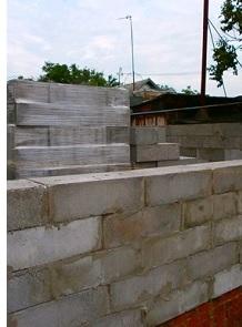 Кладка стен из полистиролбетонных блоков