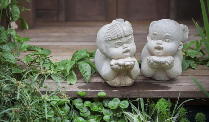 скульптуры из бетона для сада