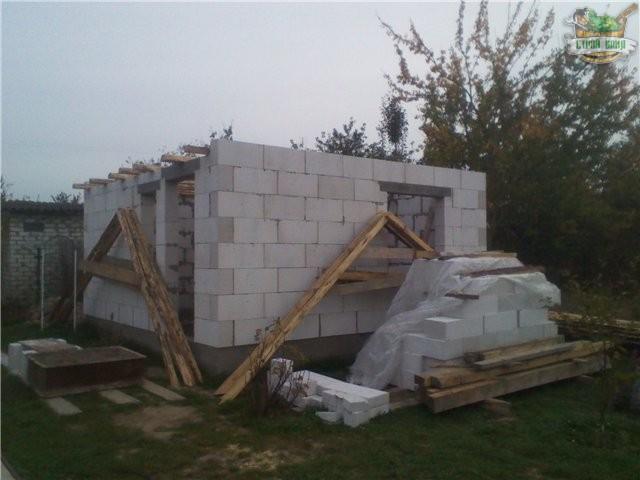 Стены бани из газосиликатных блоков