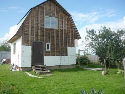 Теплоизоляция фасада деревянного дома