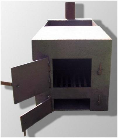 Фундамент для металлической печи для бани