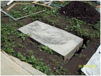 Фундамент для печи в виде железобетонной плиты