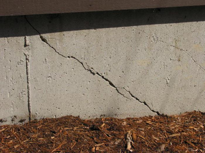 ремонт трещин фундамента при помощи мет уголков