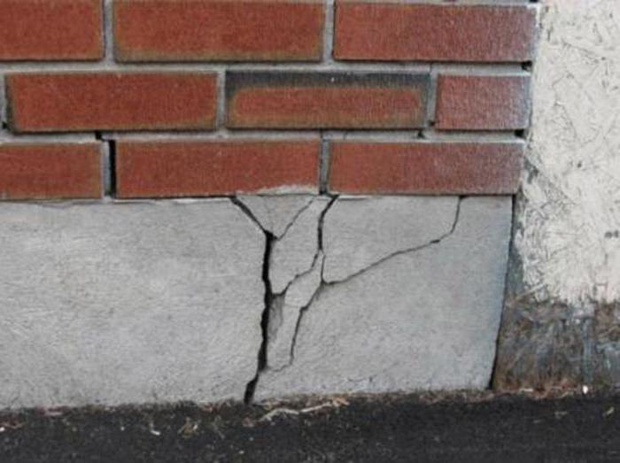 ремонт трещин в фундаменте