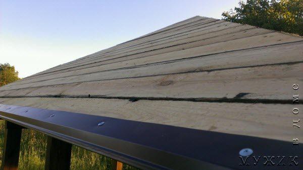 Установка карнизной планки на крышу