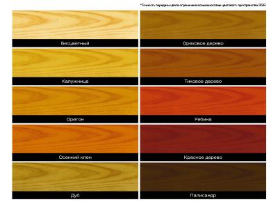Варианты цветовой отделки беседки