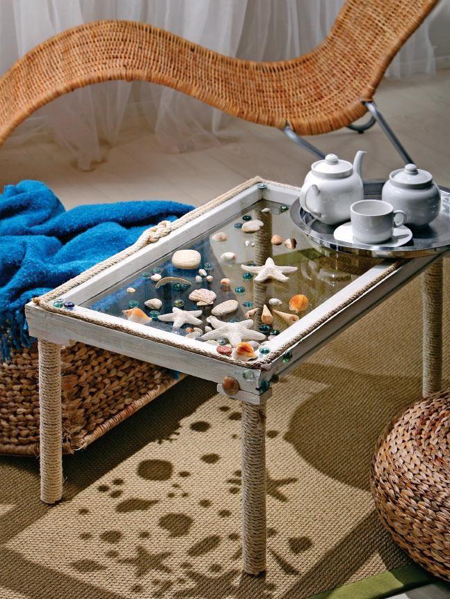 Журнальный столик своими руками в морском стиле