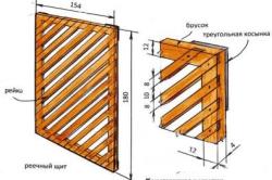 Конструкция деревянной решетки