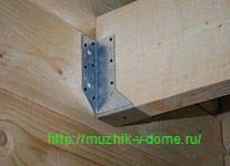 Крепление лаг пола в деревянном доме