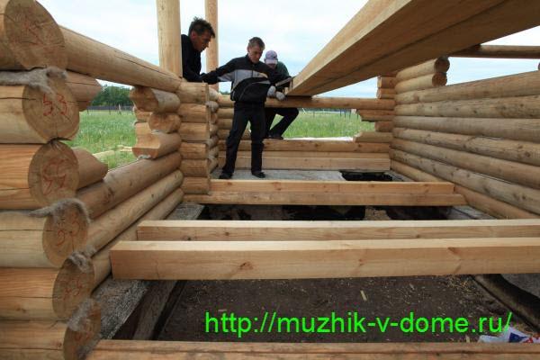 монтаж пола своими руками в деревянном доме