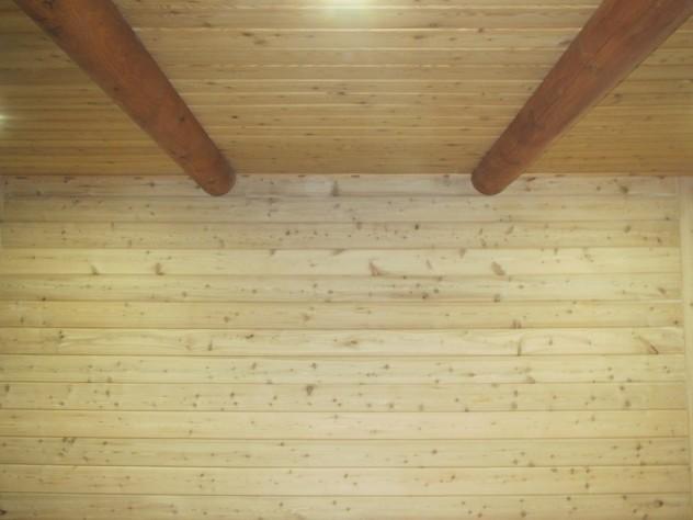 отделка имитацией бруса внутри дома