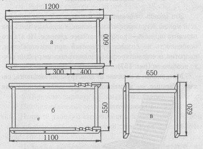 Схема изготовления каркасных рам шезлонга