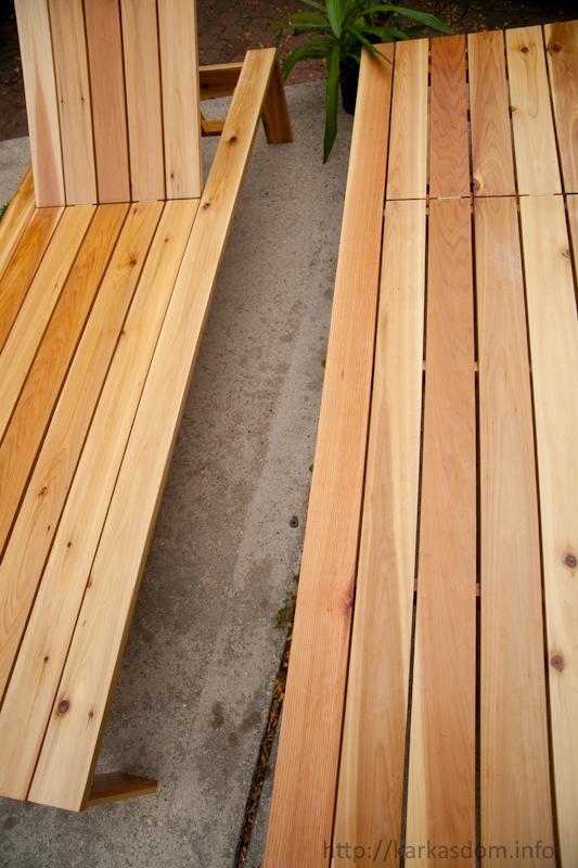 деревянный шезлонг своими руками