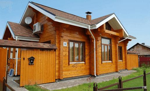 Готовый дом из деревянного бруса