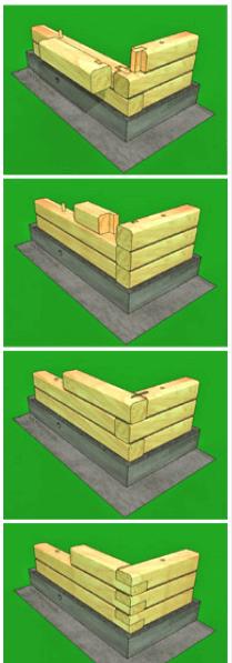 Способы устройства угловых соединений бруса.