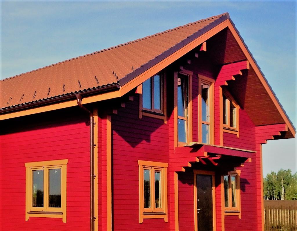 покраска деревянного дома в Самаре фото