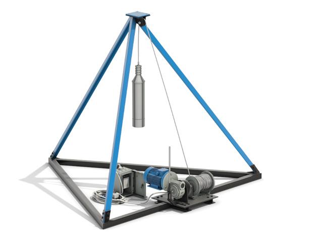 Буровая установка для бурения скважины ударно-канатным способом