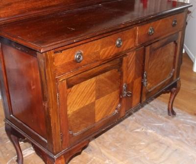 Состаренная мебель: покраска под старину. Недорогой старый буфет отлично подойдет для проекта шебби шик своими руками
