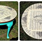 декор круглого столика