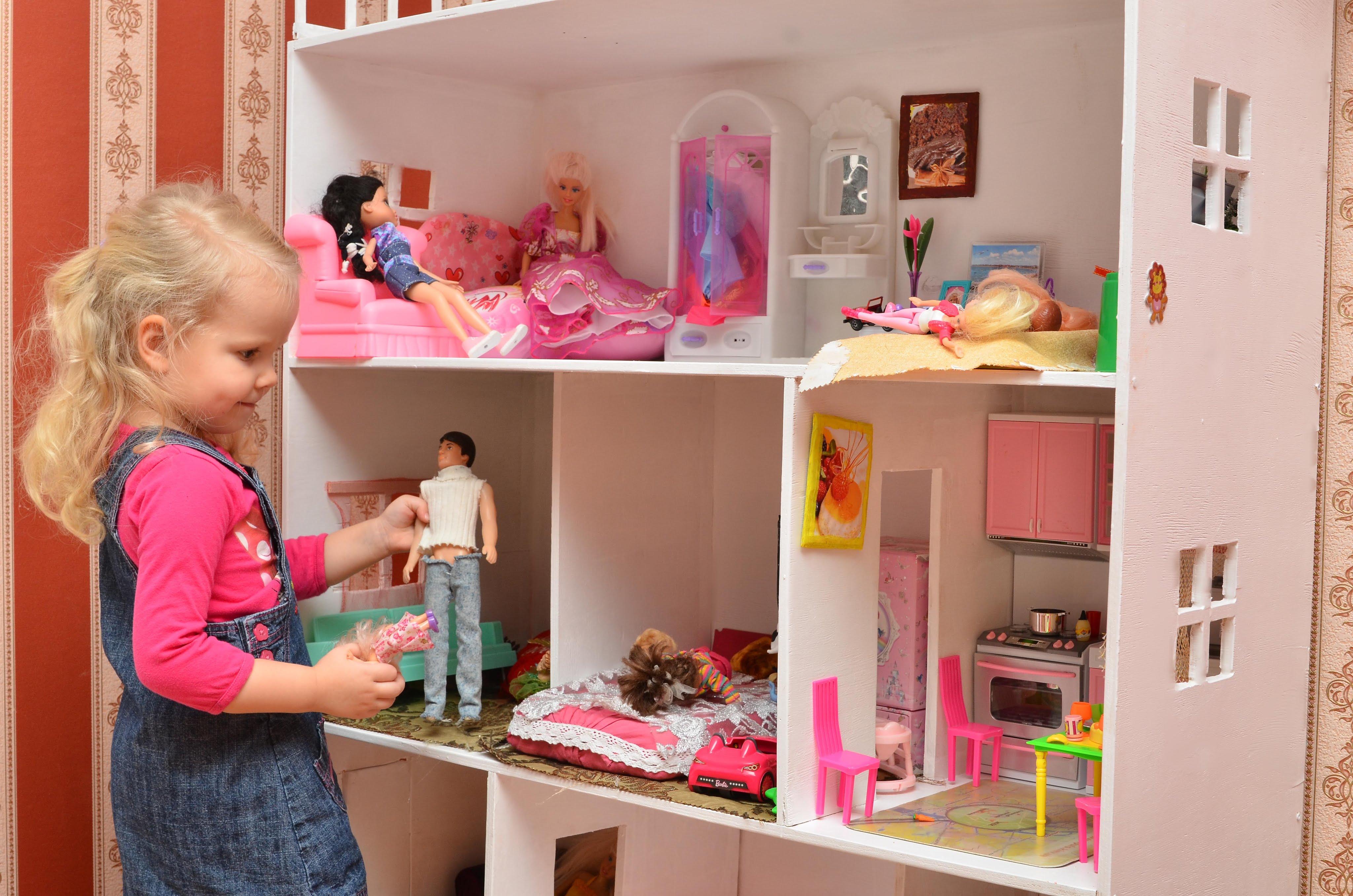 Как сделать дом для кукол из фанеры своими руками