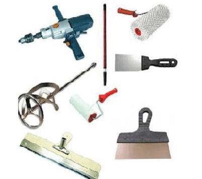 Инструмент необходимый для выполнения работ по подготовке поверхности и заливке наливного пола по дереву