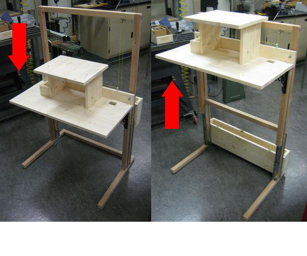 компьютерный стол трансформер своими руками