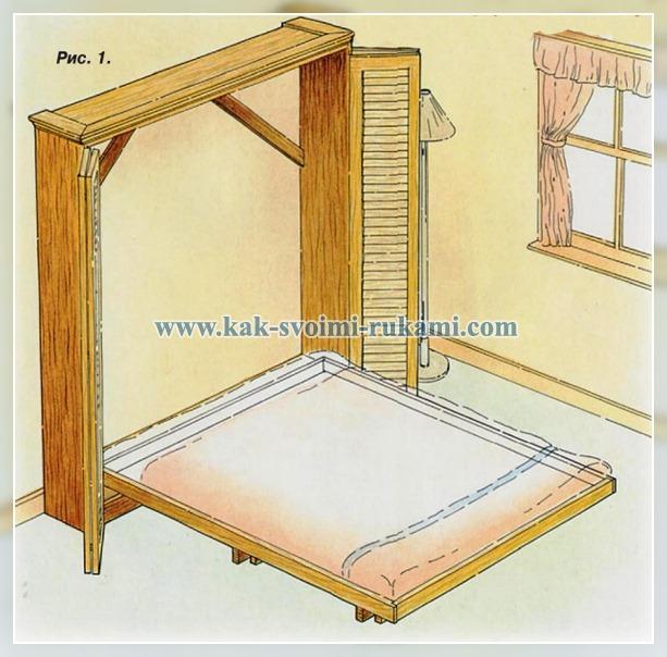 Как сделать подъемную кровать фото 805