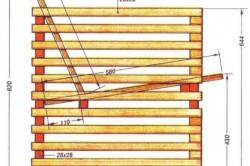 Схема конструкции и размеров кресла
